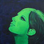 Barbra Streisand, portrait painting