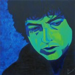 Bob Dylan, portrait painting
