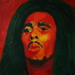 Bob Marley, portrait painting