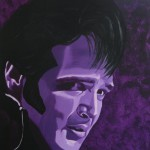 Elvis Presley, portrait painting