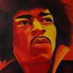 Jimi Hendrix, portrait painting