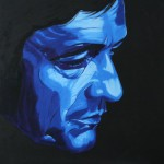 Johnny Cash, portrait painting