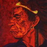 Keith Richards, portrait painting