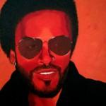 Lenny Kravitz, portrait painting