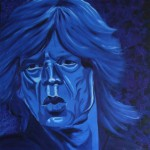 Mick Jagger, portrait painting