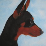 Commissioned animal portrait painting