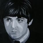 Paul McCartney, portrait painting