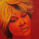 Tina Turner, portrait painting