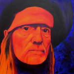 Willie Nelson, portrait painting